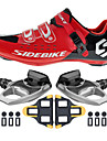 SD001 Cycling Shoes Unisex Outdoor / Road Bike Sneakers Damping / Cushioning Red / Black-sidebike And Shimano PD-M520