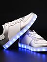 Unisexe-Exterieure / Decontracte / Sport-Noir / Rose / Blanc / Argent-Talon Plat-Confort / Nouveaute-Sneakers-Similicuir
