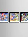 Fantezie Pânză Înrămată / Set Înrămat Wall Art,PVC Negru Rogojină Inclusă cu Frame Wall Art