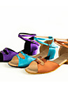 Chaussures de danse(Bleu / Marron / Violet) -Non Personnalisables-Talon Cubain-Satin-Latine