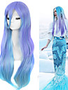 lolita megurine mode luka cosplay perruques eau bleu perruques ombre charmante beaute de longue coiffure droite