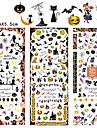 3pcs Nail Sticker Art Autocollants de transfert de l\'eau Punk Maquillage cosmetique Nail Art Design