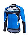 fastcute Maillot de Cyclisme Femme Homme Enfant Unisexe Manches longues Velo Shirt Maillot Hauts/TopsGarder au chaud Sechage rapide Zip