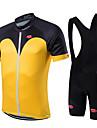 Fastcute® Cykeltröja med Bib-shorts Herr / Unisex Kort ärm Cykel Andningsfunktion / Snabb tork / Dragkedja fram / Bärbar / Kompression