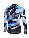 Fastcute® Maillot de Cyclisme Homme Manches longues Velo Garder au chaud / Pare-vent Hauts/Tops Toison Classique Hiver Cyclisme/Velo