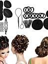 8 Type beignes tresser magie bourgeon tete a tete spherique de disque Outils de cheveux coiffure plat pour accessoires femmes cheveux