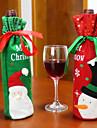 2pcs vente chaude decoration de noel pere noel bonhomme de vin rouge couvercle de la bouteille