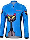 KEIYUEM® Maillot de Cyclisme Femme / Homme / Unisexe Manches longues VeloEtanche / Respirable / Sechage rapide / Design Anatomique / Zip