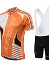 fastcute Maillot et Cuissard a Bretelles de Cyclisme Femme Homme Unisexe Manches courtes VeloRespirable Sechage rapide Permeabilite a