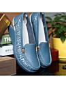 Blå / Gul / Vit / Orange-Kilklack-Dam-Komfort-Läder-Fritid-Loafers & Slip-Ons