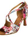 Chaussures de danse(Rose) -Personnalisables-Talon Personnalise-Satin-Latine / Salsa