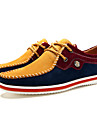 Femme-Bureau & Travail Decontracte-Bleu Jaune Rouge Gris-Talon Plat-chaussures Bullock-Oxfords-Daim