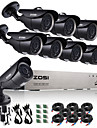 zosi®8ch 720p cctv 8pcs dvr systeme de surveillance camera de surveillance 1.0 mp