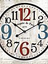 Moderne/Contemporain Autres Horloge murale, Rond Autres 30*30cm*3cm Interieur Horloge
