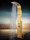 Golden Finish 10 Inch In Wall Bathroom Rainshower Set Shower Panel Rainfall Massage System Faucet with Jets Hand Shower
