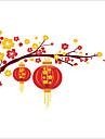 Crăciun / Florale / Peisaj Perete Postituri Autocolante perete plane Autocolante de Perete Decorative,PVC MaterialLavabil / Detașabil /