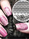 2016 senaste versionen mode mönster blomma nail art stämpling bild mall plattor