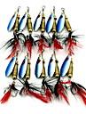 1 pcs leurres de peche / Leurre Buzzbait & Spinnerbait Leurre Buzzbait & Spinnerbait Bleu Fonce 6 g Once mm pouce,Metal Peche d\'appat