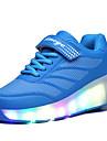 Garcon-Exterieure / Decontracte / Sport-Noir / Bleu / Rose-Talon Compense-Confort-Chaussures d\'Athletisme-Polyurethane