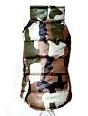 Hundar Kappor / Vest Röd / Gul / Grön / Blå Hundkläder Vinter Kamouflage Mode / Håller värmen