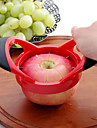 äpple cutter wedger divider 8 vassa knivar i rostfritt stål& bästa ergonomiskt gummigrepp handtag -må femtonde