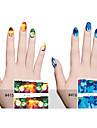 6pcs Nail Sticker Art Autocollants de transfert de l\'eau Maquillage cosmetique Nail Art Design