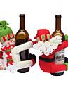 sticla de vin 2buc acoperă seturi de Crăciun partid Moș haine capac de Crăciun pentru Crăciun sticla de Anul Nou cadou roșu decorare acasă
