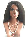 7a brazilian cheveux crepus vierge glueless avant de dentelle perruques de cheveux humains droites avec des cheveux de bebe pour les