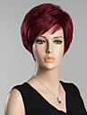 courte perruque de cheveux humains droite pour les femmes