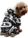 Câine Hanorace cu Glugă Salopete Pijamale Îmbrăcăminte Câini Draguț Keep Warm Ren Gri Cafea Albastru Roz