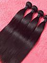 Human Hår vävar Malaysiskt hår Ret 4 delar hår väver