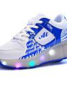 Fille-Exterieure Decontracte Sport-Noir Bleu Rose-Talon Compense-Confort Light Up Chaussures-Chaussures d\'Athletisme-Tulle