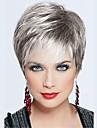nytt mode korta raka Capless peruker hög kvalitet människohår blandade färger
