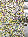 Blommig Modern Fönsterfilm,PVC/Vinyl Material fönster~~POS=TRUNC