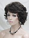 nouveau ondules boucles marron perruque 6\'S # court synthetique cheveux pleins de femmes pour tous les jours