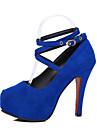 Homme-Habille-Noir / Bleu / Rouge-Talon Aiguille-Confort-Chaussures a Talons-Polyurethane