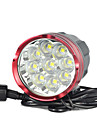 Eclairage Lampes Frontales Eclairage securite velo / Ecarteur de danger Sangle de Lampe Frontale LED 18000 Lumens 1 Mode Cree XM-L T6
