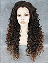 imstyle 26 \'\' beau brun ombre a long boucles avant de dentelle perruques synthetique noir pour les femmes noires