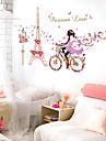 Romantic / Natură moartă / Oameni Perete Postituri Autocolante perete plane / Acțibilduri de Oglindă Autocolante de Perete Decorative,pvc