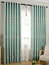 Deux Panneaux Le traitement de fenetre Rustique , Fleur Chambre a coucher Melange Poly/Coton Materiel Rideaux TenturesDecoration