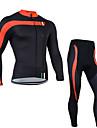 Sportif Veste avec Pantalon de Cyclisme Homme Manches longues VeloRespirable Sechage rapide Design Anatomique Zip frontal La peau 3