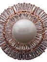 Dame Broșe bijuterii de lux costum de bijuterii Perle Zirconiu Zirconiu Cubic Circle Shape Geometric Shape Bijuterii Pentru Zilnic