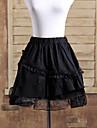 Kjolar Gotisk Lolita Lolita Cosplay Lolita-klänning Svart Enfärgat Lolita Kort längd Kjol För Bomull