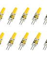 3W G4 Ampoules Mais LED T COB COB 280LM lm Blanc Chaud / Blanc Froid Decorative V 10 pieces