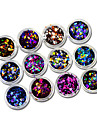 12 Colors Mixed Dot Shape for Round Thin Paillette Glitter for Nail Art Decorations Gel POlish DIY Decorations C12