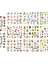 1sheet, 11designs Nail Sticker Art Autocollants de transfert de l\'eau Maquillage cosmetique Nail Art Design