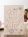 Pliat Invitatii de nunta 50-Invitații Hârtie Perlă
