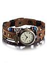 Unisex Ceas La Modă Ceas Brățară Ceas de Mână Quartz Rezistent la Apă Piele Bandă Vintage Boem Brățară rigidă Maro Maro