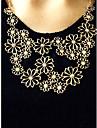Femme Colliers Declaration Forme de Fleur Alliage Ajustable Beige Bijoux Pour Soiree Quotidien 1pc