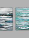 Pictat manual Abstract Picturi de ulei,Modern / Clasic Două Panouri Canava Hang-pictate pictură în ulei For Pagina de decorare